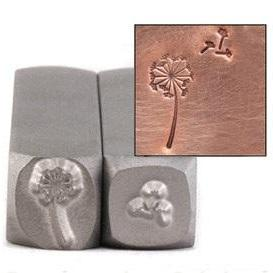 Dandelion and fluff steel stamp